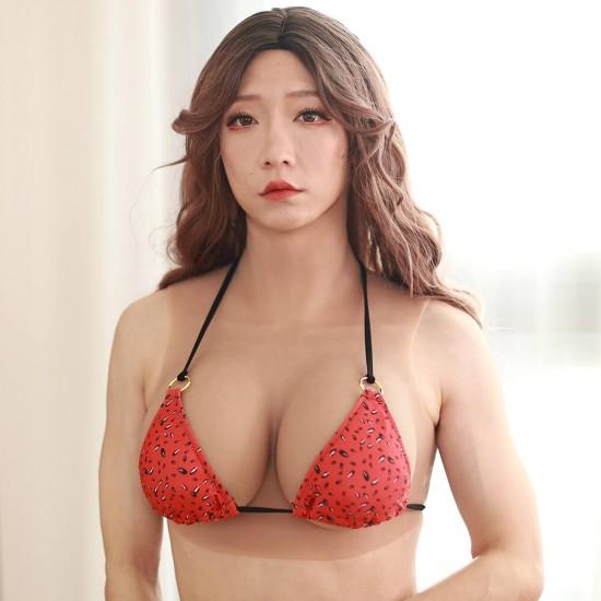 Watermelon spotted tied side string bikini