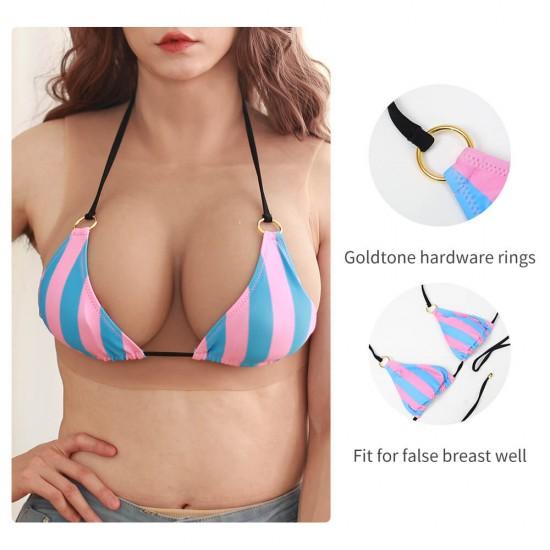 high pink and blue bikini