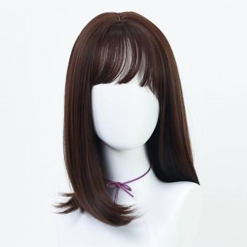 Chocolate Bob wig with bangs