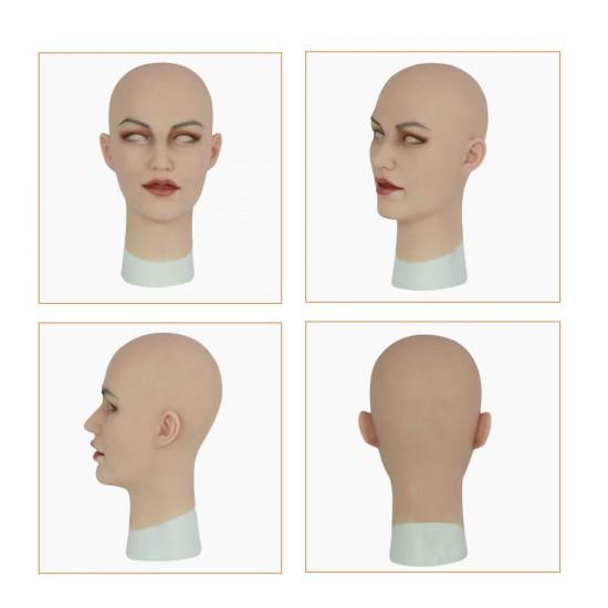 female silicone crossdresser mask-Ann mask