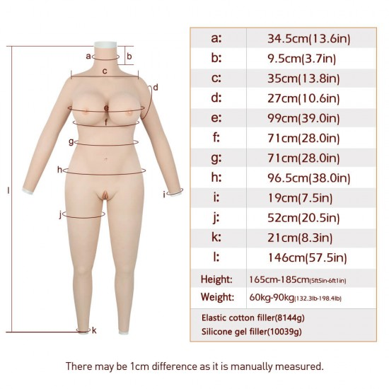 body suit with arms-G cup