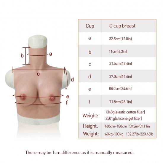 silicone breast C cup - normal size