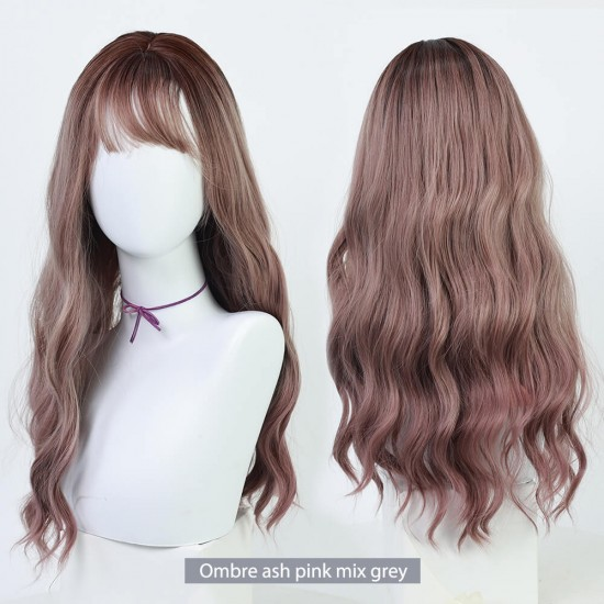 Curly long wig- JF006
