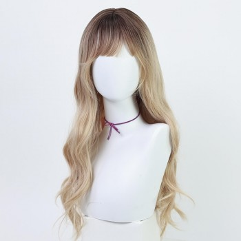Curly long wig- JF007